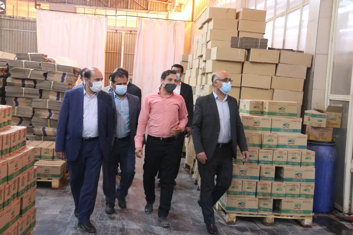 بازدید رئییس سازمان به اتفاق معاون هماهنگی امور اقتصادی استانداری بوشهر از واحد های صنعتی شهرستان دشتستان 7مهرماه 99